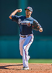 11 March 2016: Atlanta Braves pitcher Alexi Ogando on the mound during a Spring Training pre-season game against the Philadelphia Phillies at Champion Stadium in the ESPN Wide World of Sports Complex in Kissimmee, Florida. The Phillies defeated the Braves 9-2 in Grapefruit League play. Mandatory Credit: Ed Wolfstein Photo *** RAW (NEF) Image File Available ***