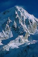 Aiguille du Chardonnet (3824m) after a heavy September snowfall, Mont-Blanc Massif, France, 1998
