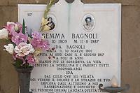 Grave Stones at San Miniato Church - Florence Italy.