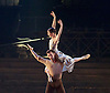 English National Ballet <br /> Triple Bill<br /> at Sadler's Wells, London, Great Britain <br /> rehearsal <br /> 7th September 2015 <br /> <br /> No Man's Land <br /> <br /> by Liam Scarlett <br /> <br /> Alina Cojocaru <br /> James Forbat <br /> <br /> <br /> <br /> Photograph by Elliott Franks <br /> Image licensed to Elliott Franks Photography Services