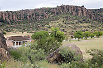 Fort Davis, Indian Wars' frontier military post, built from 1854 to 1891.  Fort Davis was strategically located on the Chihuahua Trail. Officer's quarters.