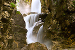Waterfall in Austria, slow shutter speed for silky effect.