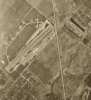 historical aerial photograph John Wayne Airport Orange County 1946