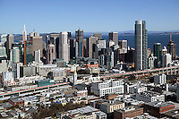aerial photograph San Francisco skyline