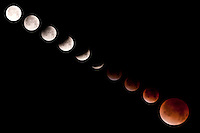 Lunar eclipse series, December 10, 2011, Denali National Park, Alaska, USA.