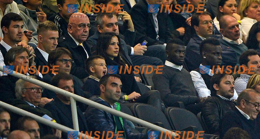 Antonio Conte, Mario Balotelli, Adriano Galliani<br /> Milano 4-10-2015 Stadio Giuseppe Meazza - Football Calcio Serie A Milan - Napoli. Foto Giuseppe Celeste / Insidefoto