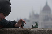 Popular cartoon character gets a statue in Budapest, Hungary on January 27, 2017. ATTILA VOLGYI