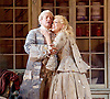 The Barber of Seville <br /> by Rossini <br /> English National Opera, London Coliseum, London, Great Britain <br /> Rehearsal <br /> 25th September 2015 <br /> <br /> <br /> Eleazar Rodriguez as Count Almaviva <br /> <br /> Kathryn Rudge as Rosina <br /> <br /> <br /> <br /> <br /> <br /> Photograph by Elliott Franks <br /> Image licensed to Elliott Franks Photography Services
