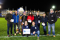 Half time entertainment from bmi regional. Aviva Premiership match, between Bath Rugby and Bristol Rugby on November 18, 2016 at the Recreation Ground in Bath, England. Photo by: Patrick Khachfe / Onside Images
