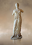Marble statue of Athena, the Goddess of Wisdom, Skills &amp; Warfare from Leptis Magna, Tripolitana. Roman copy of Greek 5th cent. B.C statue. Istanbul Archaeological Museum, Turkey. Inv. No 435T Cat. Mendel 532.