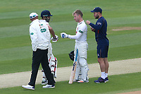 Adam Wheater of Essex receives treatment during Essex CCC vs Hampshire CCC, Specsavers County Championship Division 1 Cricket at The Cloudfm County Ground on 20th May 2017