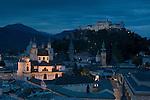 Dusk view of Salzberg, Austria. © Michael Brands. 970-379-1885.