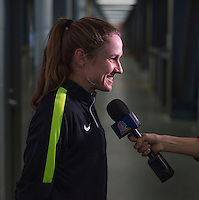 Montreal, Canada - June 28, 2015:  The USWNT trained indoors in preparation for the semifinals of the FIFA Women's World Cup at Montreal Stadium.