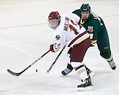 Pat Mullane (BC - 11), Dan Lawson (Vermont - 28) - The Boston College Eagles defeated the visiting University of Vermont Catamounts 6-0 on Sunday, November 28, 2010, at Conte Forum in Chestnut Hill, Massachusetts.