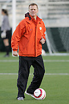 3 November 2006: Clemson assistant coach Tom Stone. North Carolina defeated Clemson 3-0 at SAS Soccer Park in Cary, North Carolina in an Atlantic Coast Conference women's college soccer tournament semifinal game.
