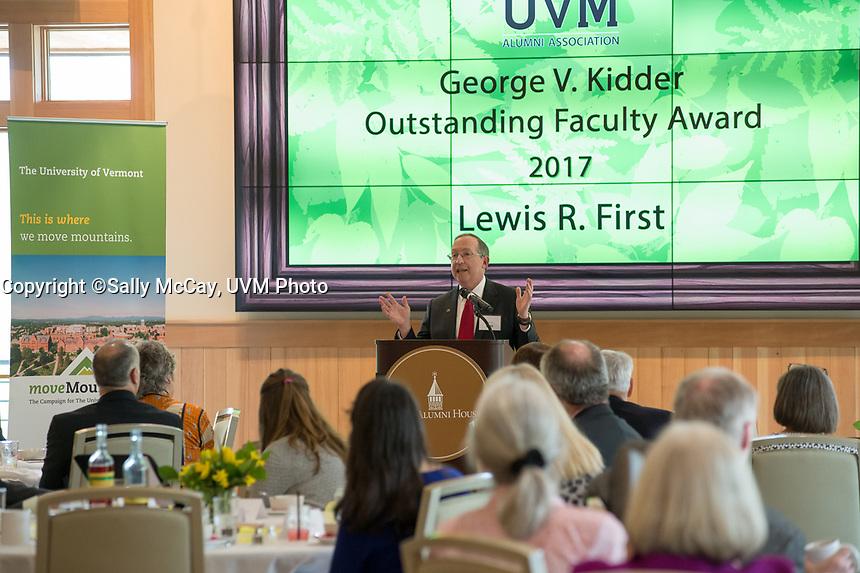 Kidder Award Luncheon.  Dr. Lewis First