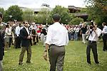 Senator Barack Obama, Democratic presidential candidate, campaigning in Concord, New Hampshire, July 2, 2007