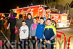 Tomás Walsh, Blánaid Walsh, Conor Brosnan, Shauna Walsh, Gearoid Walsh and Jason Brosnan, pictured at the Coca Cola Truck in Listowel on Sunday last.