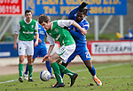 St Johnstone v Hibs....05.03.11 .Callum Booth holds off Collin Samuel.Picture by Graeme Hart..Copyright Perthshire Picture Agency.Tel: 01738 623350  Mobile: 07990 594431