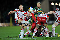 Willi Heinz of Gloucester Rugby box-kicks the ball. Aviva Premiership match, between Northampton Saints and Gloucester Rugby on November 27, 2015 at Franklin's Gardens in Northampton, England. Photo by: Patrick Khachfe / JMP