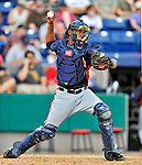 6 March 2011: Atlanta Braves' catcher Christian Bethancourt in action during a Spring Training game against the Washington Nationals at Space Coast Stadium in Viera, Florida. The Braves shut out the Nationals 5-0 in Grapefruit League action. Mandatory Credit: Ed Wolfstein Photo