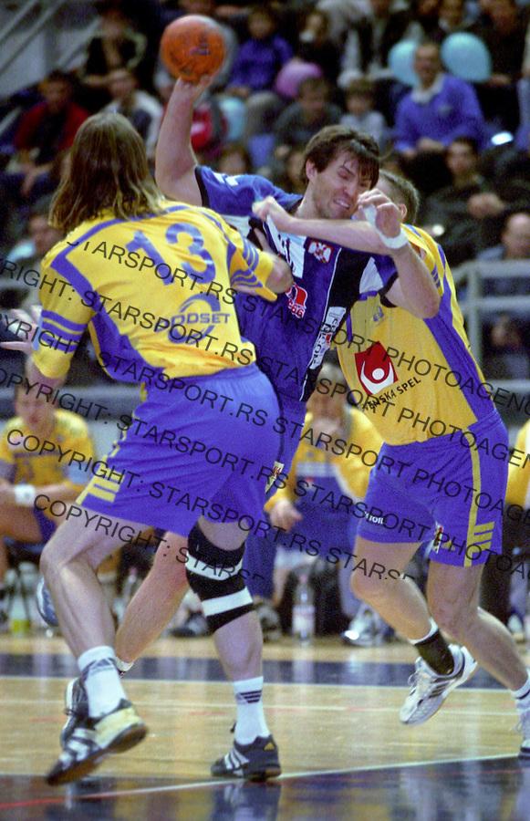 RUKOMET&amp;#xA;SRBIJA-SVEDSKA&amp;#xA;Nedeljko Jovanovic&amp;#xA;Beograd, 2003&amp;#xA;foto: Srdjan Stevanovic<br />
