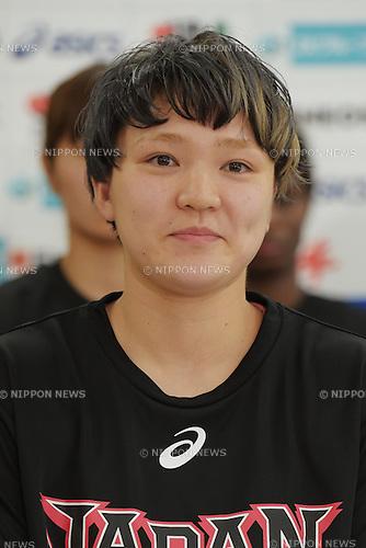 Asami Yoshida (JPN),<br /> June 10, 2015 - Basketball : <br /> Japan women's national team training session for 2015 FIBA Asia Championship for Women<br /> at Ajinomoto National Training Center, Tokyo, Japan. <br /> (Photo by Shingo Ito/AFLO SPORT)