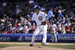 CHICAGO - APRIL  05:  Andrew Cashner #48 of the Chicago Cubs pitches against the Arizona Diamondbacks on April 5, 2011 at Wrigley Field in Chicago, Illinois.  The Cubs defeated the Diamondbacks 6-5.  (Photo by Ron Vesely) Subject: Andrew Cashner..