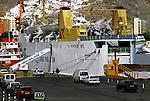 Fred Olsen ferry in Santa Cruz de Tenerife, destination Las Palmas, Gran Canaria.   Canary Islands, Spain