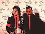 Michael Jackson & Eddie Murphy 1989 American Music Awards..© Chris Walter..