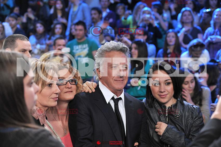 EXCLUSIVO ... EXCLUSIVO ... EXCLUSIVO Dustin Hoffman en el programa  Amici 2012 (Amigos) 2012 en Roma, Italia. 21 de abril de 2012.<br /> (Foto:&copy;CLICPHOTO/ Sestini/NoticiasFotos/ MediaPunch/NortePhoto.com)