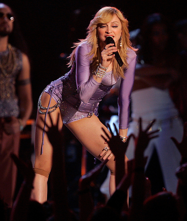 Madonna opened the Grammy show at the 48th Annual Grammy Awards at the Staples Center in Los Angeles, California on Wednesday February 08, 2006. -- PHOTO CREDIT: Richard Hartog/Los Angeles Times