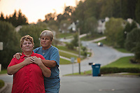 """Teri Reeder, 51, and Robin Silver, 49, of Greensboro, NC have been together for 8 years and have known each other for 23. They are legally married in Canada. """"Acceptance is the real American dream,"""" says Teri. She defines acceptance as """"to wake up and not have to brace myself for someone not liking me."""" """"I don't want to have to think about being gay every day! It's just one part of me!"""" says Robin."""
