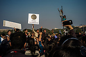 Indian students protest at the Raisina Hill demanding more safety for women following the brutal gang-rape of a student last weekend in New Delhi, India.