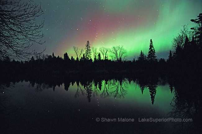 Northern lights in upper peninsula michigan