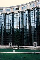 """Ricardo Bofill: Echelles de Baroque project, Place de Seoul. Paris, 14th ARR., near Montparnasse Station off Ave. du Maine. See """"Building a City on Shifting Sands"""", PROG. ARCH., JULY 1987."""