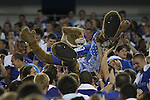 The Wildcat crowd surfs at Big Blue U at Commonwealth Stadium on Saturday, August 18, 2012. Students were invited to come learn the cheers and fight song and then pose for a picture on the field. Photo by Tessa Lighty | Staff