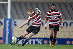Baden Kerr converts the Sherwin Stowers try. ITM Cup Round 7 rugby game between Auckland and Counties Manukau, played at Eden Park, Auckland on Thursday August 11th..Auckland won 25 - 22.