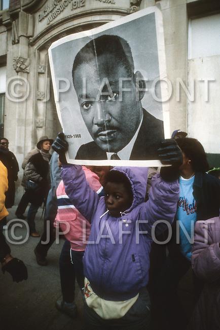 Atlanta, Georgia, U.S.A, 15 January, 1987. The 58th birthday memorial of Martin Luther King.