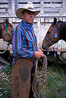 Cowboy at 1/2 Way Ranch, near Kleena Kleene,.Chilcotin Country,.British Columbia, Canada