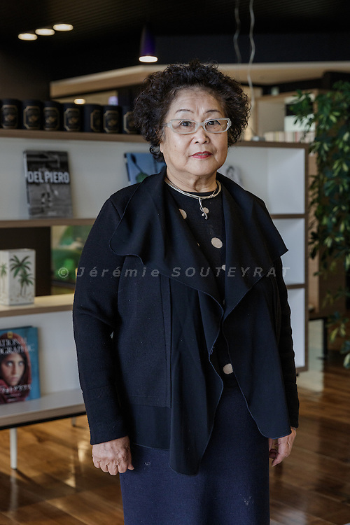 Kawasaki, January 21 2016  -Portrait of Masue KATAYAMA, CEO of Shinko Fukushikai at Crossheart Saiwai Kawasaki old people's home.