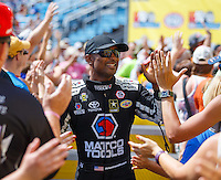 Jul 10, 2016; Joliet, IL, USA; NHRA top fuel driver Antron Brown during the Route 66 Nationals at Route 66 Raceway. Mandatory Credit: Mark J. Rebilas-USA TODAY Sports