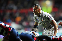 Robbie Fruean of Bath Rugby looks on. European Rugby Challenge Cup match, between Bristol Rugby and Bath Rugby on January 13, 2017 at Ashton Gate Stadium in Bristol, England. Photo by: Patrick Khachfe / Onside Images