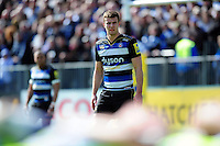 Ollie Devoto of Bath Rugby watches a scrum. Aviva Premiership match, between Bath Rugby and Sale Sharks on April 23, 2016 at the Recreation Ground in Bath, England. Photo by: Patrick Khachfe / Onside Images