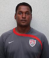 Assistant Coach Gerson Echeverry. U.S. Under-17 Men Training in Kano, Nigeria.