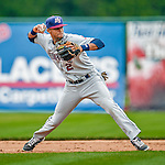9 July 2015: Mahoning Valley Scrappers infielder Willi Castro in action against the Vermont Lake Monsters at Centennial Field in Burlington, Vermont. The Scrappers defeated the Lake Monsters 8-4 in 12 innings of NY Penn League play. Mandatory Credit: Ed Wolfstein Photo *** RAW Image File Available ****