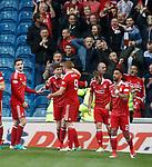 Ryan Christie celebrates Aberdeen's second goal