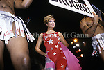 May 22, 1991:  Brooke Shields wtih two drag queens at Love Ball in New York City, New York.