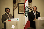 Press conference of Mahmoud Ahmadinejad and Michel Sleimane in Beirut