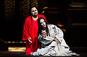 London, UK. 07.09.2013. TURANDOT opens at the Royal Opera House. Picture shows: Marco Berti (Calaf) and Lise Lindstrom (Turandot). Photograph by kind permission of the Royal Opera House © Jane Hobson.